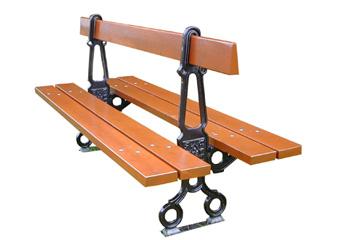 mobilier ext rieur pour collectivit s sas sodifrex le capucin banc pieds fonte lames bois. Black Bedroom Furniture Sets. Home Design Ideas
